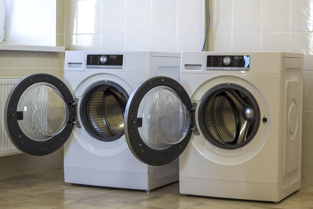 Picture of washing machines. This photo was purchased from Adobe Stock.